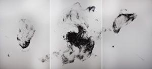 Yosra Mojtahedi/Expantion/ Encre sur papier/ 76x 188 cm/ 2019